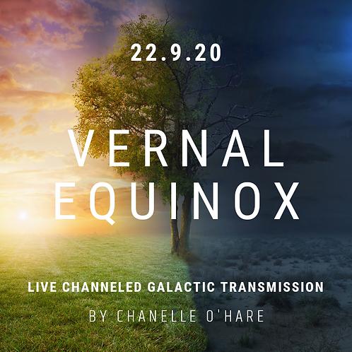 Vernal Equinox Portal Galactic Transmission