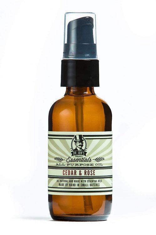 Dr. Jon's Essentials All Purpose Oil Cedar & Rose