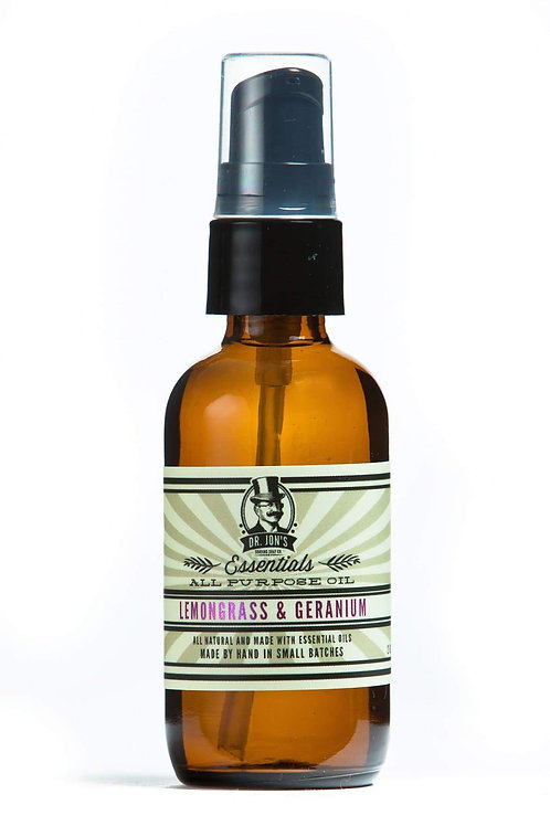 Dr. Jon's Essentials All Purpose Oil Lemongrass & Geranium