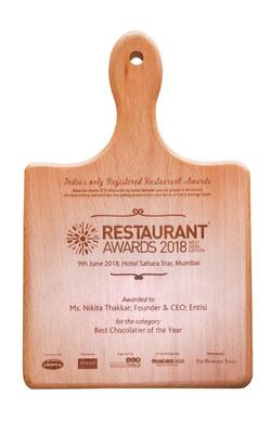 Best Chocolatier Award 2018