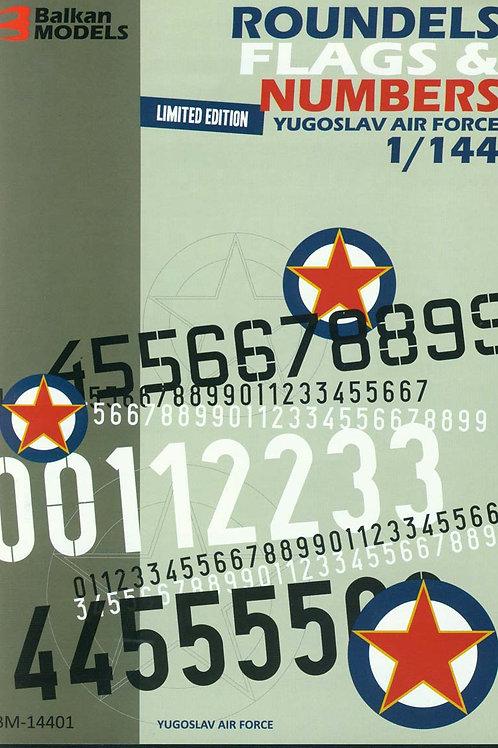 ROUNDELS, FLAGS & NUMBERS Yugoslav Air Force