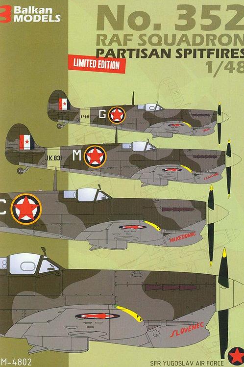 No.352 RAF Squadron Partisan Spitfires