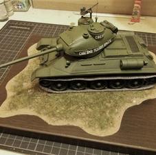 """Tank """"VOZILO A"""", 1/35 scale, made by Aleksandar Mladenovic"""