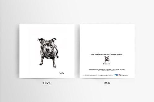 Staffie - Art Card