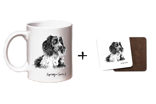 Springer Spaniel - Mug & CoasterGift Set