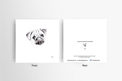 Pug - Art Card