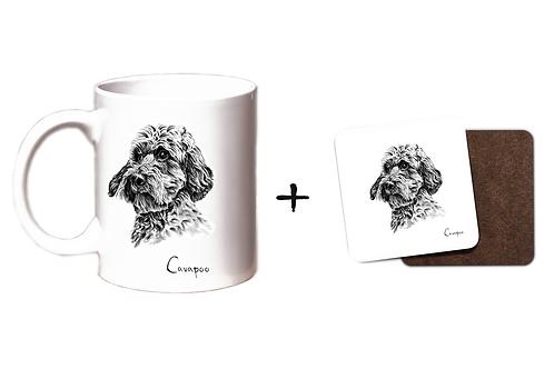 Cavapoo - Mug & Coaster Gift Set