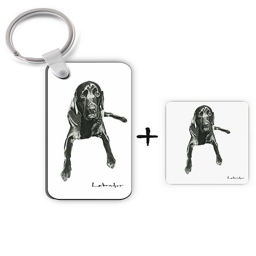 Labrador - Evening Repose - Keyring & Magnet Gift Set
