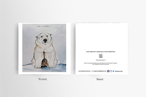 Polar Bear Lost in Thought - Art Card