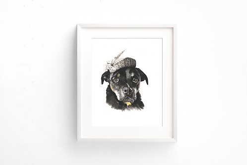 Just a Dog in a Hat - Print
