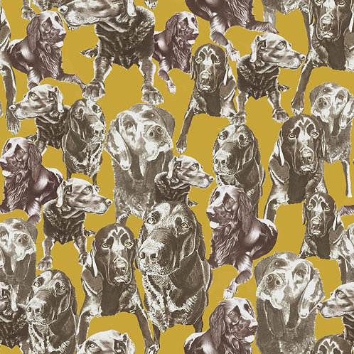 Labrador Love - Premium Wallpaper - Mustard