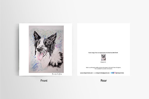Border Collie - Art Card