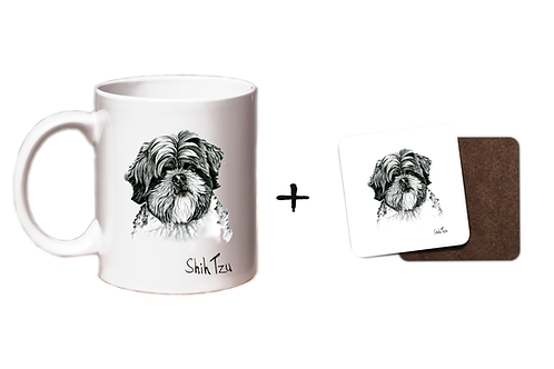 Shih Tzu- Mug & Coaster Set