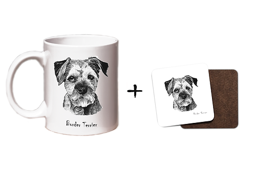 Border Terrier - Mug & Coaster Gift Set