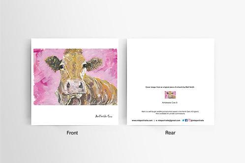 Ambleside Cow - Art Card