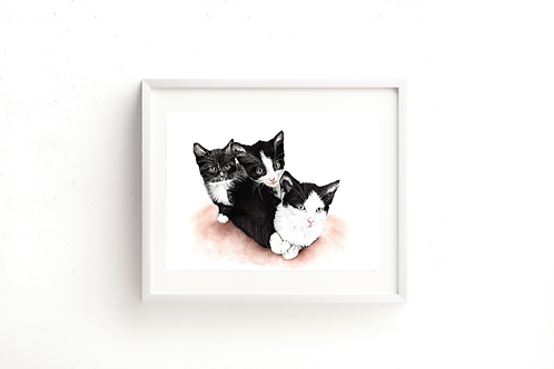 Just Three Kittens - Print