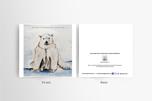 Befuddled Bear - Art Card