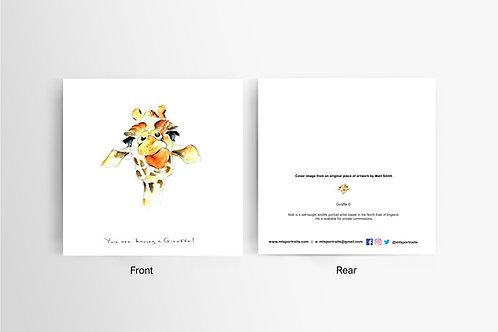 Having a Giraffe - Art Card