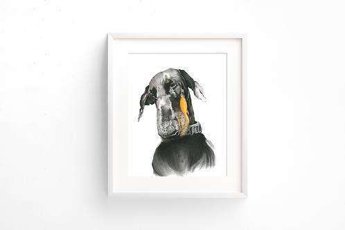 Memory - Doberman - Print
