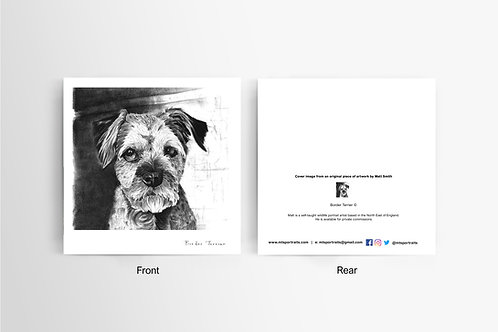 Border Terrier - Art Card