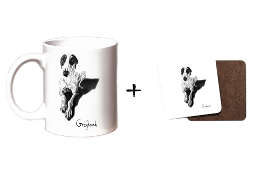 Greyhound - Mug & Coaster Gift Set