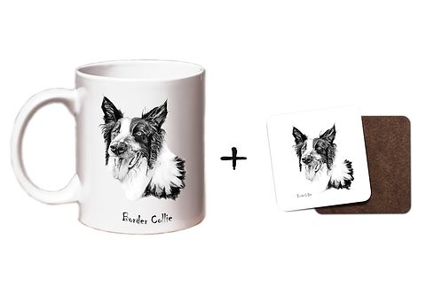 Border Collie - Mug & Coaster Gift Set