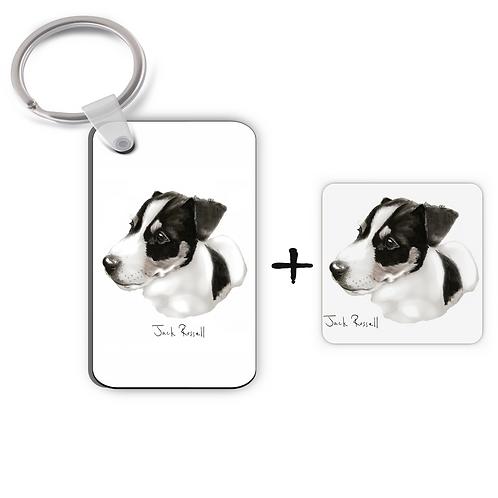 Jack Russell - Keyring & Magnet Gift Set
