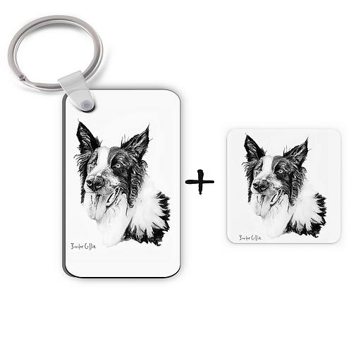 Border Collie - Keyring & Magnet Gift Set