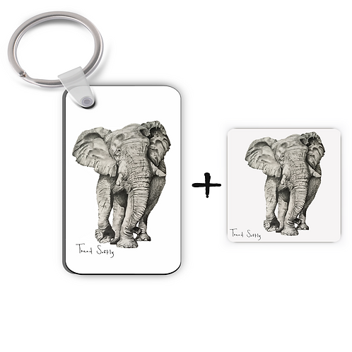 Tread Softly - Keyring & Magnet Gift Set