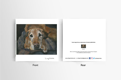 Lazy Labrador - Art Card
