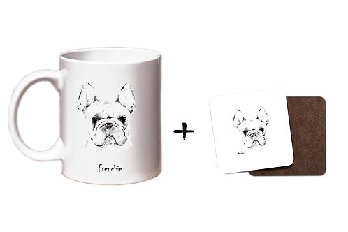 Frenchie - Mug & Coaster Gift Set