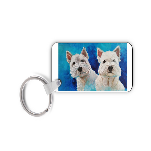Just Two Westies - Keyring