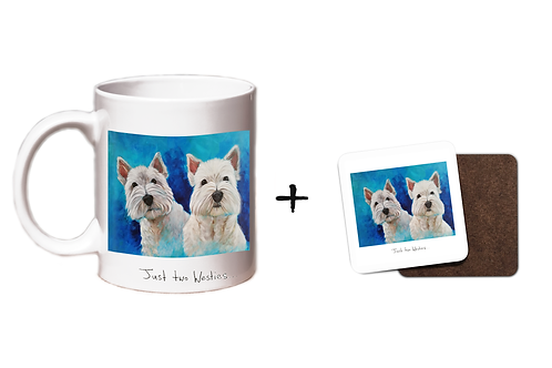 Just Two Westies - Mug & Coaster Gift Set