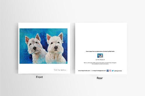 Just Two Westies - Art Card