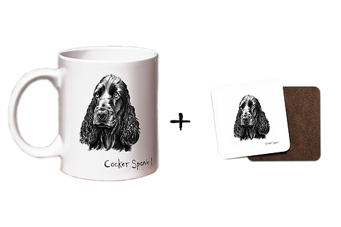 Cocker Spaniel - Mug & Coaster Gift Set
