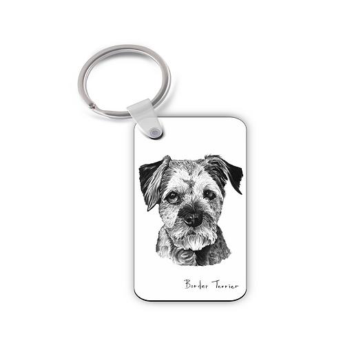 Border Terrier - Keyring