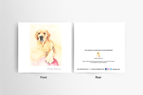 Golden Retriever - Art Card