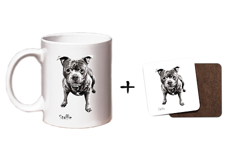 Staffie - Mug & Coaster Gift Set