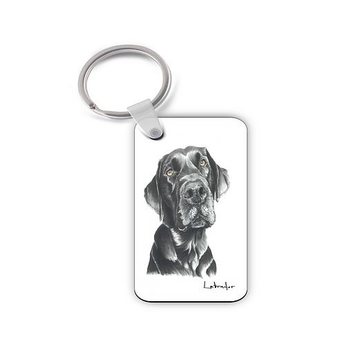 Black Labrador- Keyring