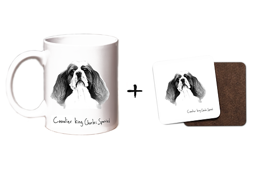 Cavalier King Charles Spaniel - Mug & Coaster Gift Set