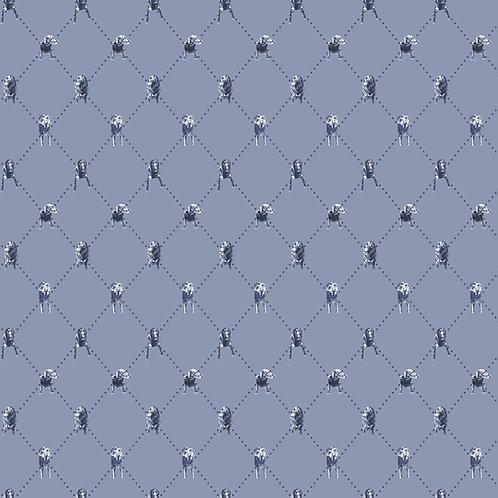 Labrador Diamonds - Premium Wallpaper - Stonewash Blue