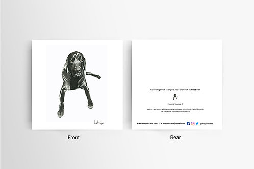 Black Labrador - Art Card