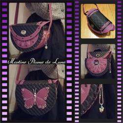 sac papillon violet