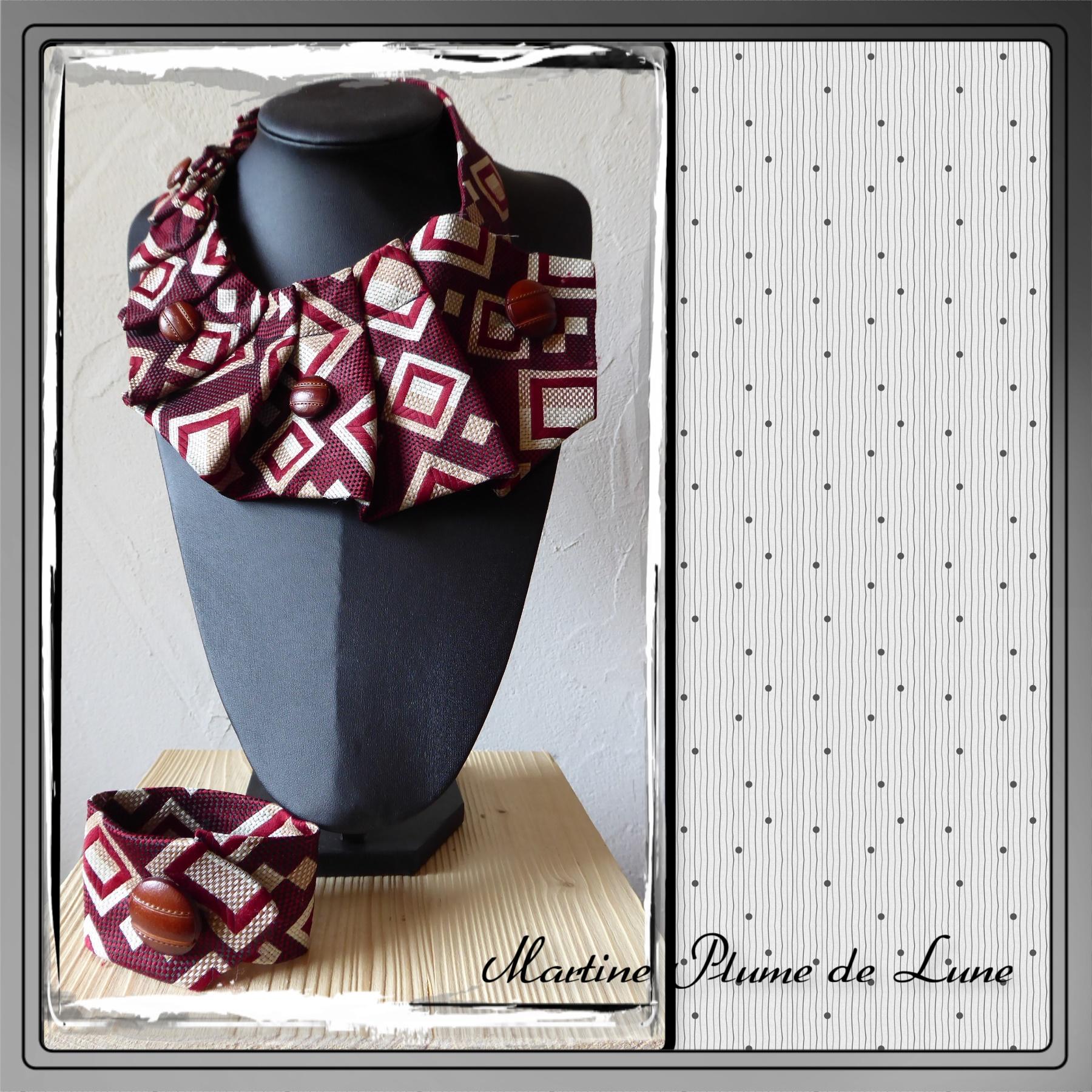 cravate vintage bordeau