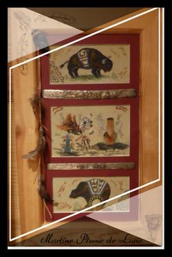 ours, bison et bracelets argent