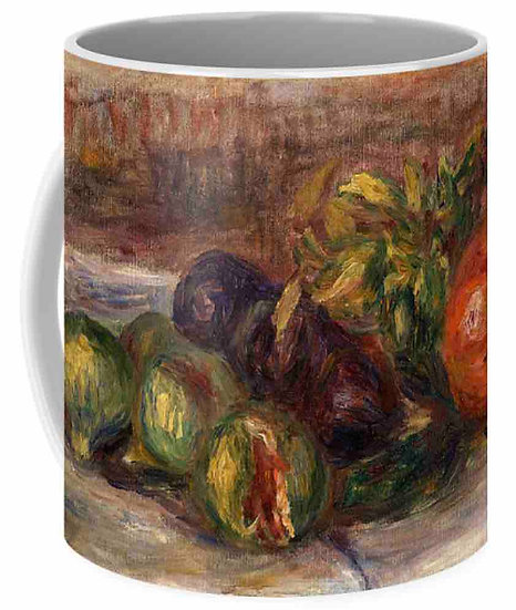 POMEGRANATE AND FIGS COFFEE MUG
