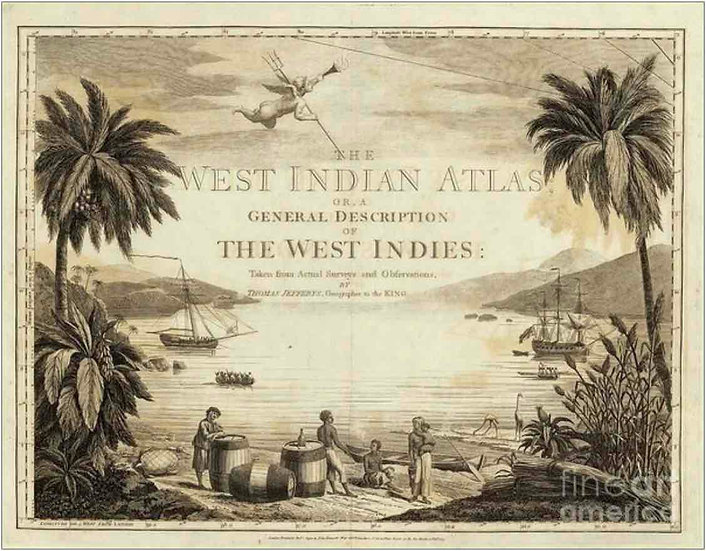 West Indies Atlas 1788 - Thomas Jefferys