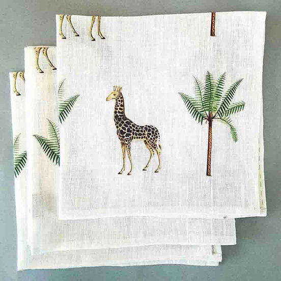 GIRAFFE NAPKINS SET OF 4