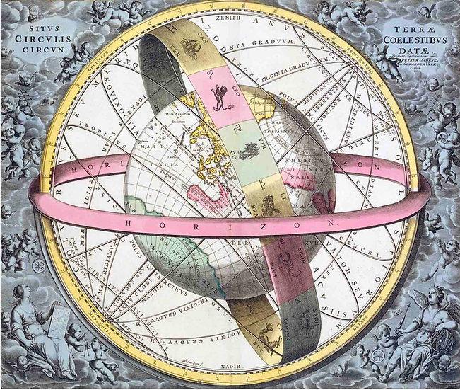 Earth's Celestial Circles, 1708 Artwork