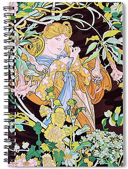 WOMAN WITH FLOWERS notebook